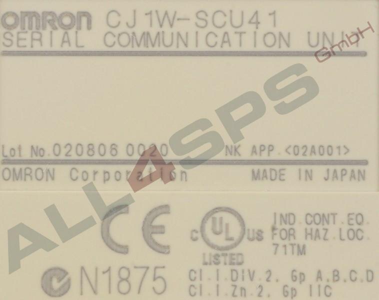 OMRON SERIAL COMMUNICATION UNIT, CJ1W-SCU41
