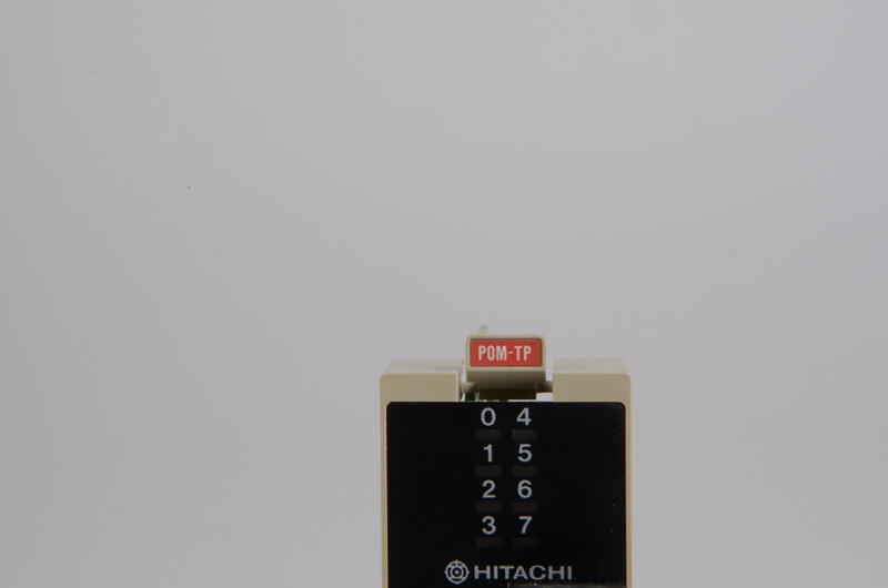 HITACHI H-200, POM-TP OUTPUT MODULE 8POINT 24VDC TRANSISTOR, USED, POM-TP