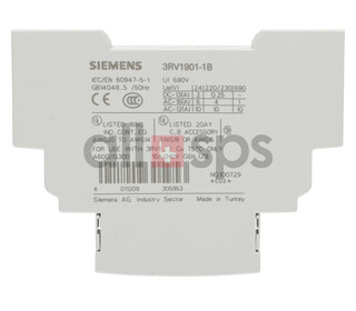 SIEMENS AUXILIARTY CONTACT BLOCK, 3RV1901-1B