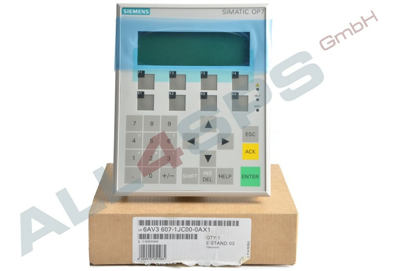 SIEMENS OPERATOR PANEL OP7 PP LC-DISPLAY, 6AV3607-1JC00-0AX2